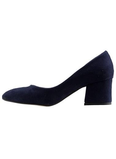 Ayakland Ayakland 97544-312 Süet 5 Cm Topuklu Bayan Ayakkabı Lacivert
